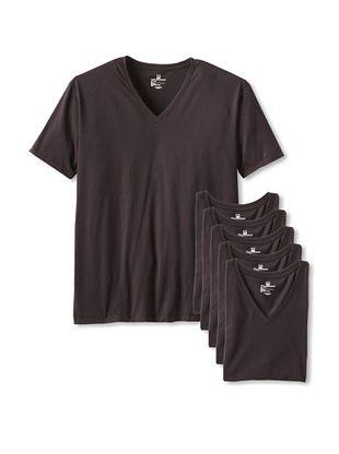 55% OFF Rated M Men's Elementary V-Neck Tee - 6 Pack (Black)