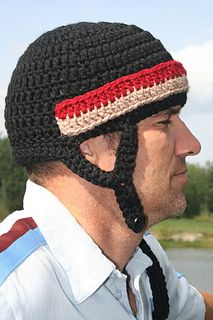 Free Crochet Pattern For Baby Hockey Helmet : Hockey Helmet Hat Crochet Pattern pattern by Tory Feyko ...