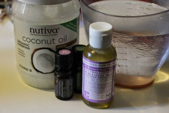 how to make shampoo with castile soap