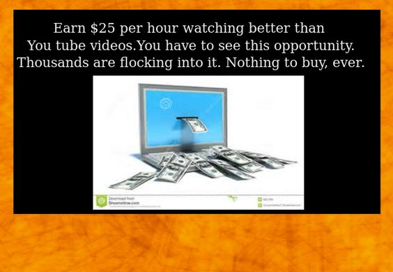 Make money from home - A great opportunity. Earn $25 per hr. just for watching videos. See for yourself. http://stenh.thwglobal.com/