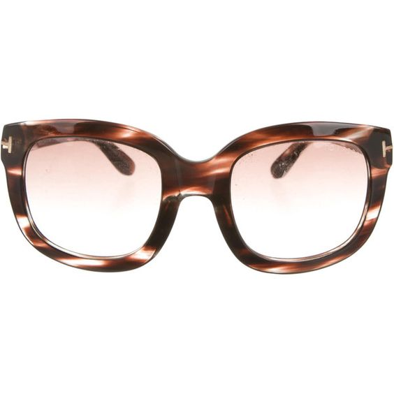 Tom Ford Tortoiseshell Chrisophe Sunglasses ($145) ❤ liked on Polyvore featuring accessories, eyewear, sunglasses, brown, tortoiseshell glasses, brown glasses, tortoise shell glasses, tom ford eyewear and logo sunglasses