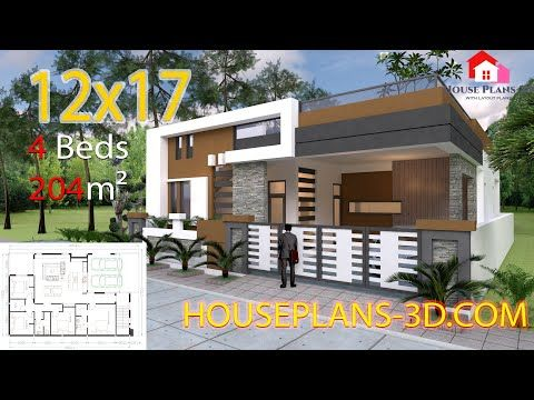 Home Design Plan 13x9 8m With 3 Bedrooms The House Style Wide Front Contemporary Style Not Boring With A House Design 4 Bedroom House Designs House Plans