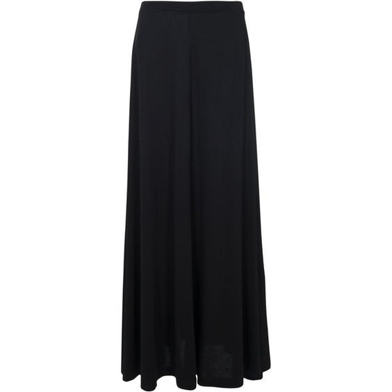 French Connection Golden Maxi Flared Skirt, Black found on ...