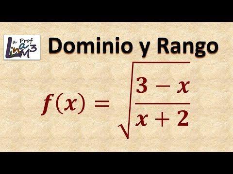 9 Dominio Y Rango Función Radical Y Racional La Prof Lina M3 Youtube Rangos Fórmulas Matemáticas Raiz Cuadrada