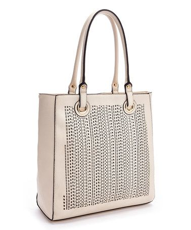 Another great find on #zulily! Off-White Perforated Tote #zulilyfinds