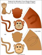 tiger puppet template - paper cone finger puppets patterns in love and paper