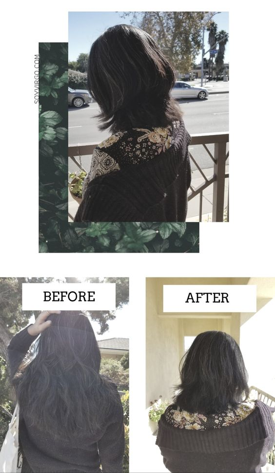 BEFORE AND AFTER LONG HAIR SHOULDER LENGTH HAIR - SOYVIRGO.COM