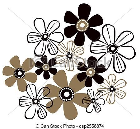 Photos motif fleur noir et blanc simple page 2 petites for Dessin graphique noir et blanc
