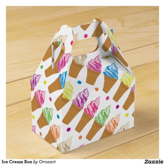 Ice Cream Box Favor Boxes