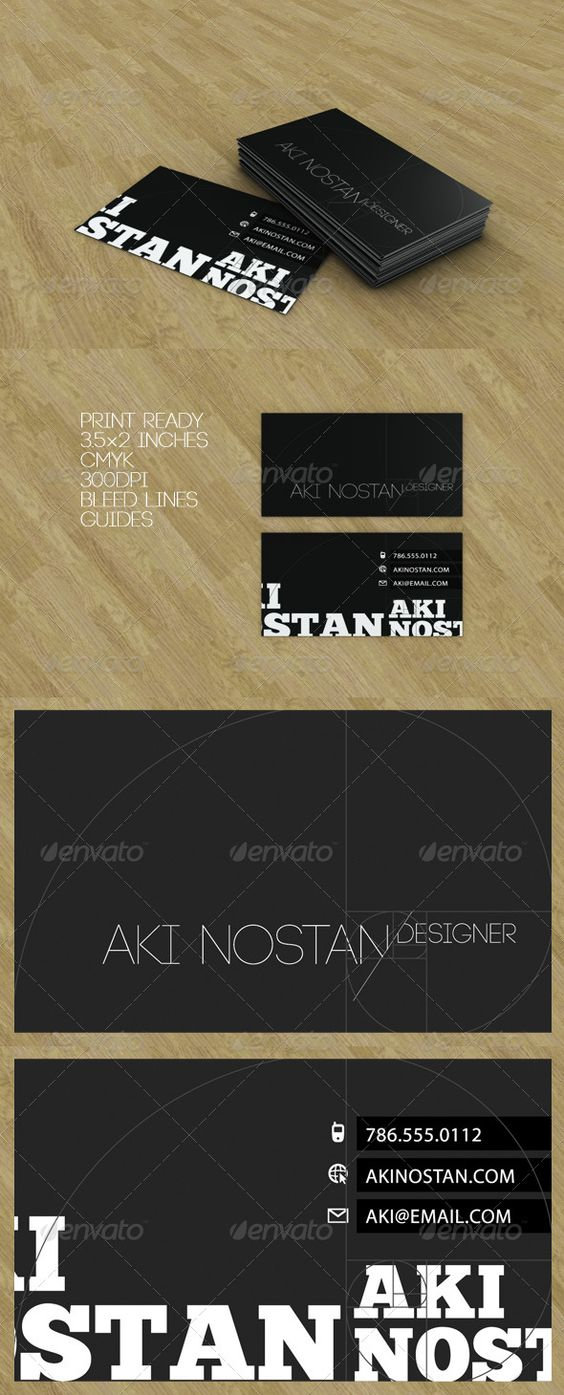 Golden Ratio Black Business Card Black Business Card Business Card Design Minimal Business Card Photoshop