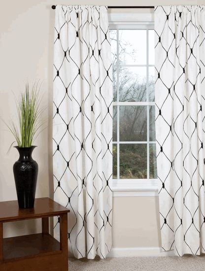 White Curtains black and white curtains : Black & White Curtains: A Bold Look For Your Windows | Fun ...