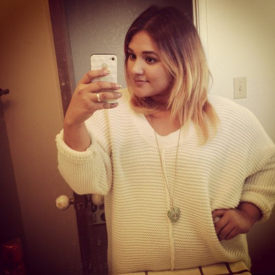 Love who you are! Plus size, beautiful, style, ombre hair