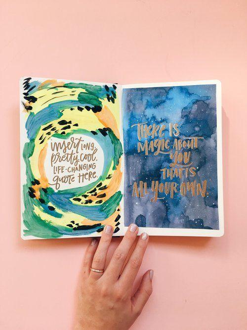 Art Journal Watercolor Background Techniques 5 Easy Ideas
