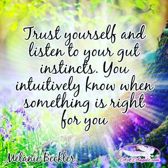Trust yourself and listen to your gut instincts. You intuitively know when something is right for you. ✨✨✨ #trustyourself #intuition #thepowerofbelief #intuitive #guided