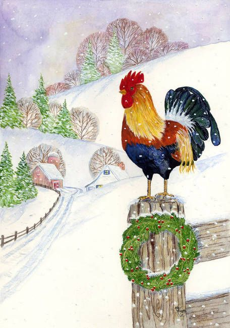 Quot Christmas Rooster Quot By Kay Murphy Pinterest Rooster