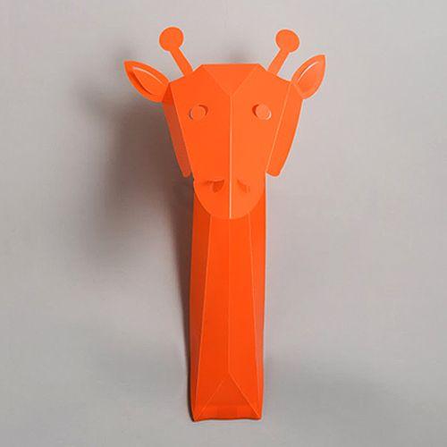 Décor mural, Stickers 3D Girafe Orange / design by Emma Roux #StudioEmmaRoux