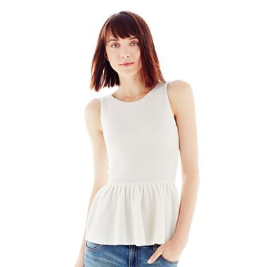 Joe Fresh™ Sleeveless Peplum Top - jcpenney