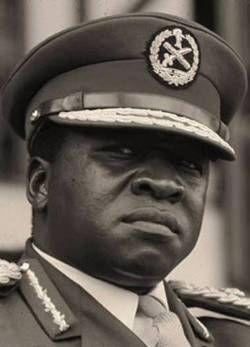 Idi Amin Dada.  Responsible for the deaths of half a million people.