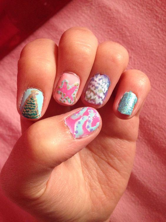 Sea themed nails
