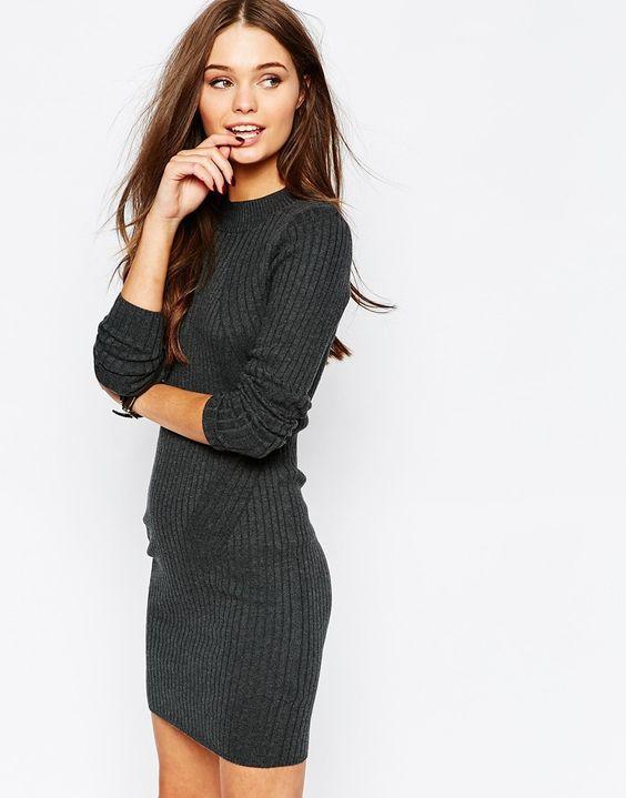 Image 1 - New Look - Mini robe moulante côtelée