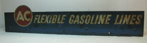 1950's AC Flexible Gasoline Lines Service Station wall display rack Gas Oil Auto