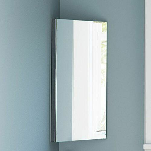 Metro Lane Ranae 30cm X 60cm Corner Mount Mirror Cabinet Wayfair Co Uk In 2020 Mirror Cabinets Bathroom Corner Cabinet Corner Mirror
