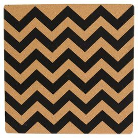 """Bring breezy island appeal to your next brunch or luncheon tablescape with this lovely design.  Product: PlacematConstruction Material: CorkColor: Black and naturalDimensions: 15"""" x 15""""Cleaning and Care: Wipe clean"""