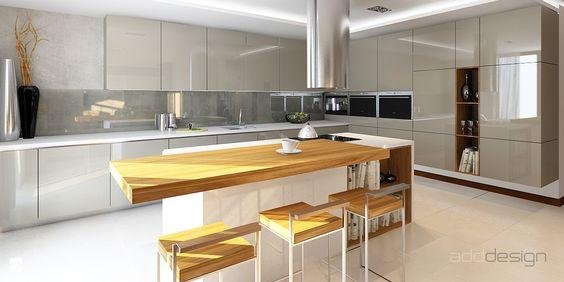 Kuchnia  Styl Nowoczesny  adddesign  My future home   -> Kuchnia Dąb Sonoma Tabac