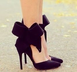 Bow Ankle Strap Heels