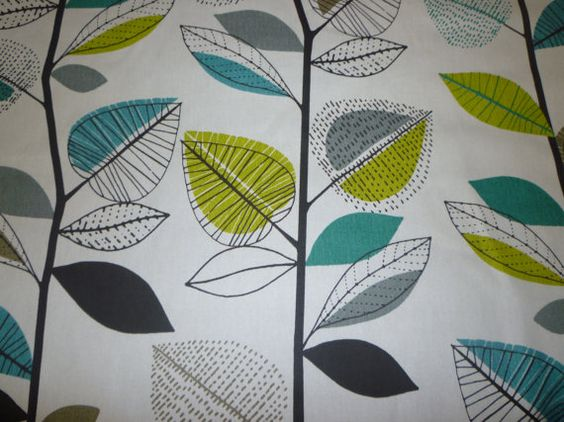 20 x 12 Lumbar Teal Cushion Cover Floral Leaf by WickedWalls