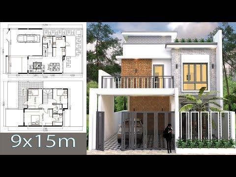 Home Design Plan 12 7x10m With 2 Bedrooms House Description One Car Parking And Gardenground Level Master Be House Plans Condo Floor Plans Bedroom House Plans