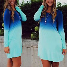 http://ift.tt/1iFcTMU Sexy Women Summer Casual Long Sleeve Evening Party Cocktail Short Dress