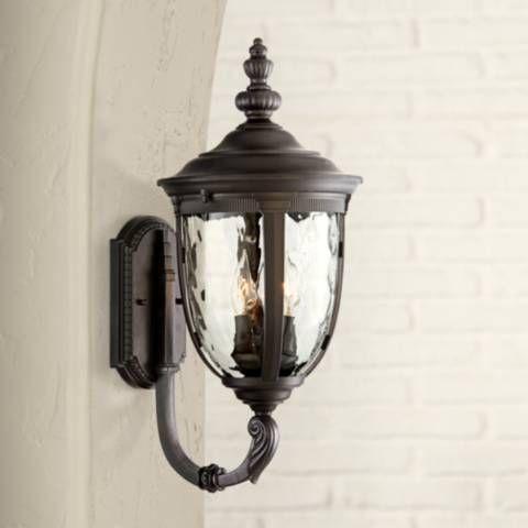 Bellagio 21 High Black Upbridge Outdoor Wall Light 49291 Lamps Plus Outdoor Wall Light Fixtures Outdoor Wall Lighting Wall Lights