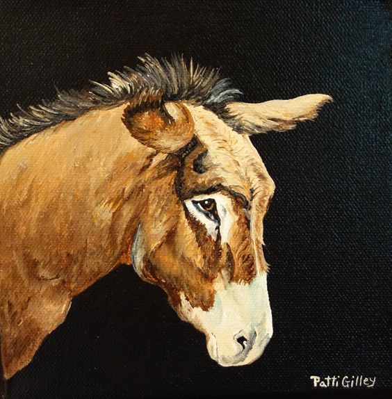 oil painting of a donkey by Patti Gilley http://www.pattigilley.com