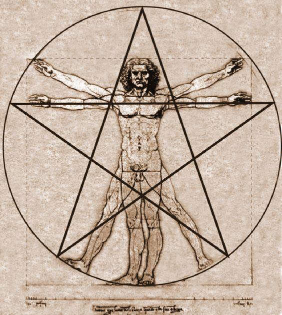 Resultado de imagen de hombre de vitruvio pentagrama