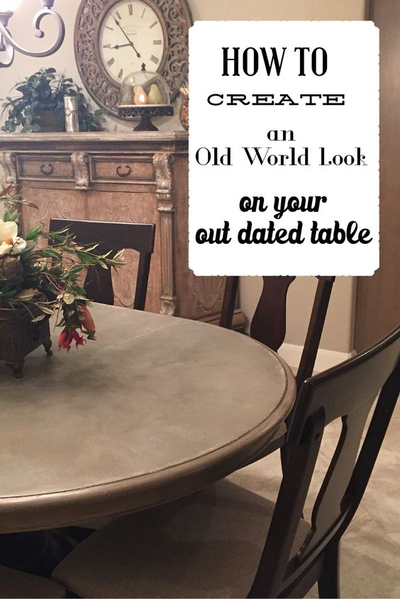 Restoration look on your outdated table!  Super easy!