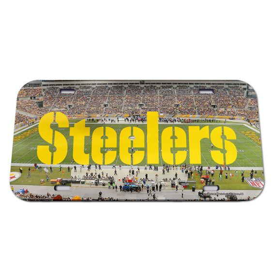 Pittsburgh Steelers License Plate - Crystal Mirror - Stadium (backorder)