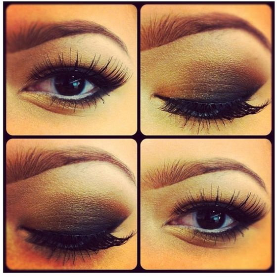 What a great smokey eye idea! Jealous how natural and clump free her fake lashes look