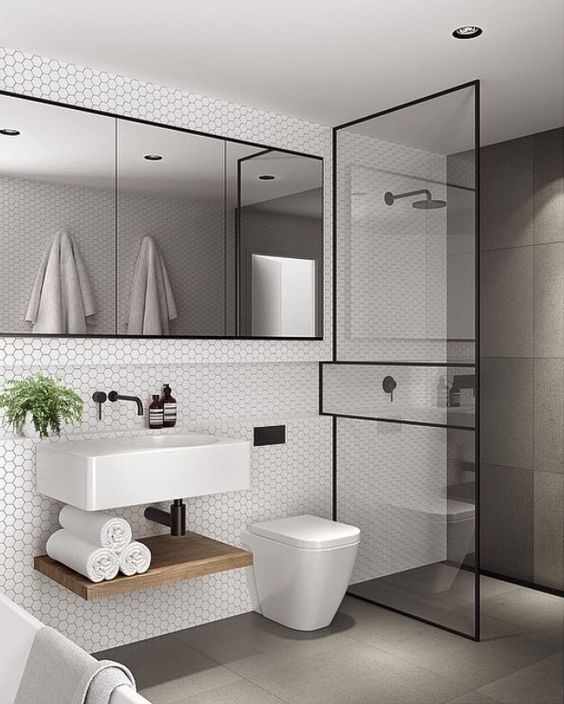 Fashionable Modern Bathroom