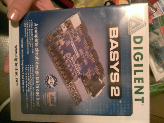 My Digilent Basys 2 FPGA (field-programmable gate array) board for digital circuit design