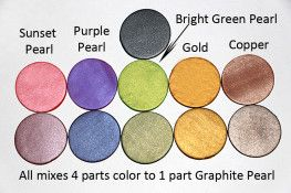Premo! Graphite Pearl mixed with metallics:  Sunset Pearl, Purple Pearl, Gold, and Copper