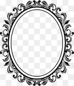 Ellipse Photo Frame European Photo Frame Cartoon Photo Frame Nordic Photo Frame Nordic Photo Frame Frame Border Design Pattern Design Drawing Ornament Drawing