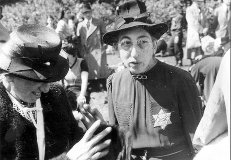 June 1943. Two Jewish women at the deportation assembly point near the Muiderpoort station in Amsterdam-Zuid. Of the 7,000 Jews summonsed by the Germans, 500 reported for transportation to transit camp Westerbork. They waited for hours for the special train that would transport them from Muiderpoort railway station to Westerbork near the city of Assen. #amsterdam #wordwar2 #Muiderpoort
