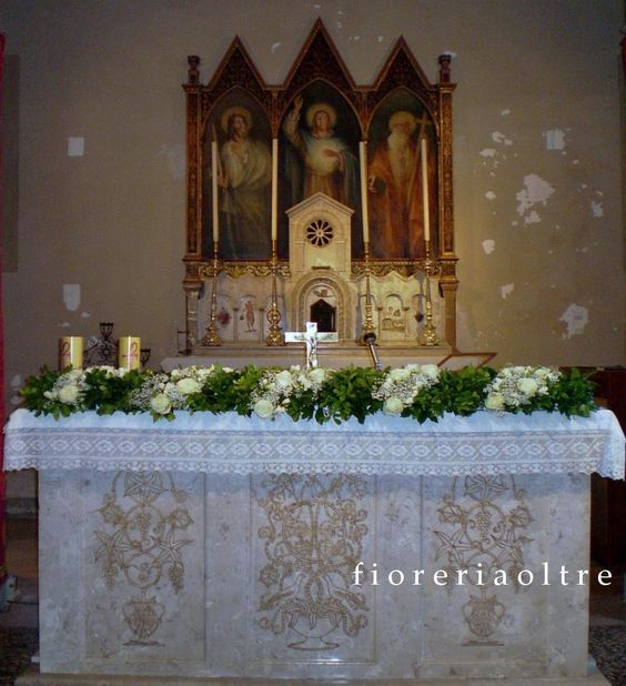Church Altar Decoration For Wedding: Fioreria Oltre/ Wedding Ceremony/ Church Wedding Flowers