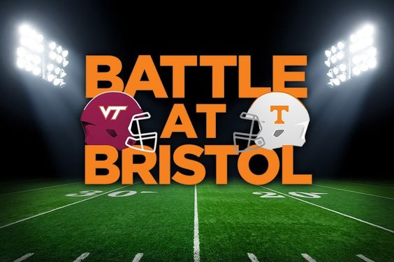 Battle at Bristol on 9-10-16----a fantastic venue and a record breaking crowd of 156,990 watched the VOLS win over the Hokies, 45-24!!!