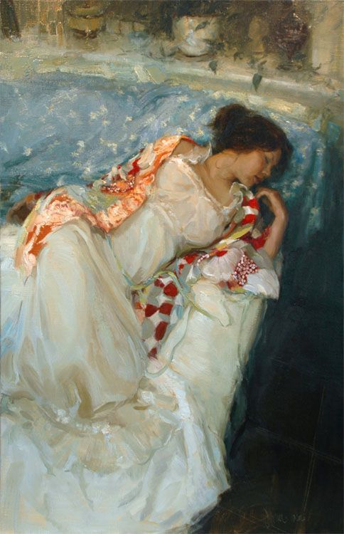 wow I love this painting so much. Vintage Dreams by Johanna Harmon