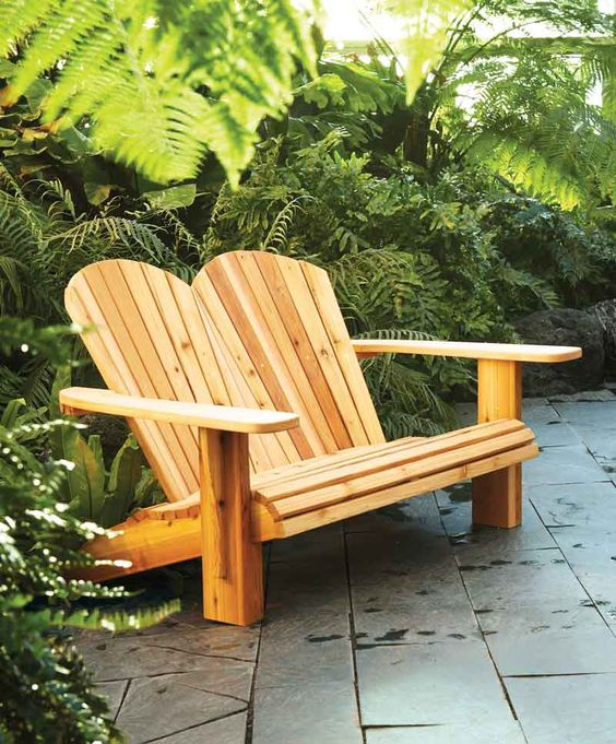 Diy Double Adirondack Chair Plans How To Make A Loveseat Decks Adirondack Chairs And Front Yards