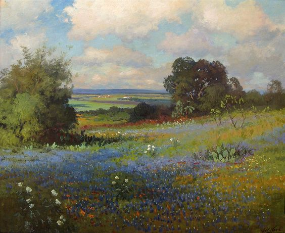 texas paintings | Robert Wood Texas Bluebonnets Painting anysize 50% off