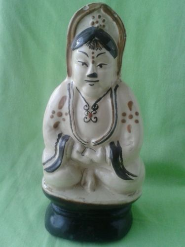 Late qing guangxu period cizhou style #seated #stoneware buddhist #guanyin figure,  View more on the LINK: 	http://www.zeppy.io/product/gb/2/122224227604/