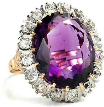 #The Three Graces         #ring                     #Edwardian #Passion: #Amethyst #Diamond #Ring #Three #Graces                  Edwardian Passion: Amethyst & Diamond Ring - The Three Graces                                           http://www.seapai.com/product.aspx?PID=458021